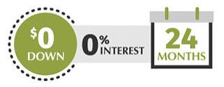 CareCredit 0 Dollars Down 24 Months Logo